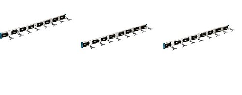 Crawford 36360-4LGW Lawn and Garden 36-Inch Ultra Hold Tool Rack (3-Pack) by Crawford