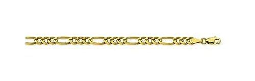 14kt Yellow Gold Figaro Chain Bracelet 4.75mm 14kt Gold Figaro Chain Bracelet