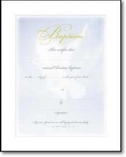 Certificate Baptism Dove & Blue (pkg of 6) (Package of 6)
