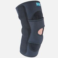 (Hely Weber Hinged Lateral J Brace with Condyle Pads #5694H Right - Open Popliteal (Large))