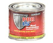 POR 15 45032 - 4oz Can Gloss Black Rust Preventative Paint - Paint Over Rust! (Single Can) (Por 15 Rust Paint)