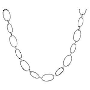 1001 Bijoux - Collier acier maille ovale 44+1,5cm
