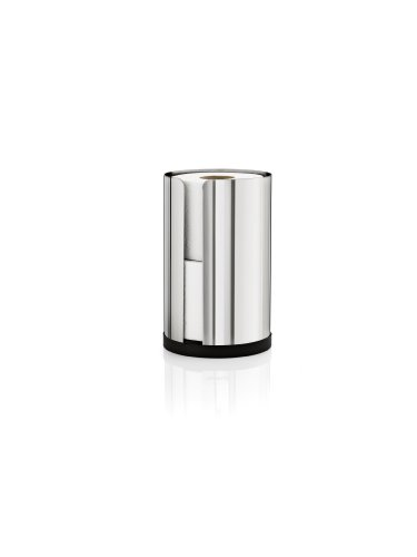 Blomus 66657 Polished Stainless Steel Spare Toilet Paper Roll Holder Stainless Steel Spare Toilet Paper