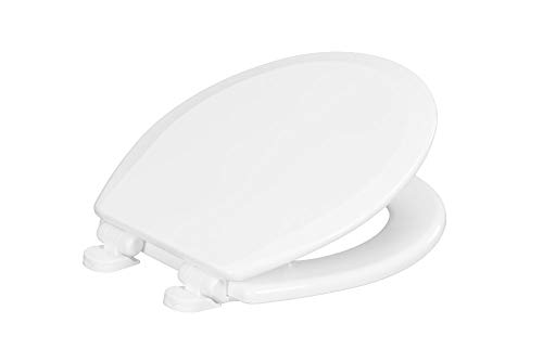 Centoco 700SC-001 Round Wooden Toilet Seat Featuring Safety Close, Heavy Duty Molded Wood with Centocore Technology, White (Best Wooden Toilet Seat)