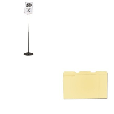 - Value Kit - Durable Sherpa Infobase Sign Stand (DBL558957) and Universal File Folders (UNV12113) (Infobase Sign Stand)