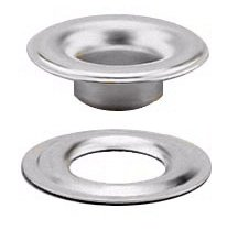 #0 SHEET METAL GROMMET and WASHER MARINE GRADE STAINLESS STEEL 304 (100 pcs. of each) by Stimpson Co., Inc.
