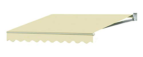 Sequoia 13'w x10'd Outdoor Patio Cover Yard Awning Retractable Sun Shade Shelter Color Cream (Retractable Covers Patio)