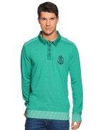 ARQUEONAUTAS Herren Pullover Langarmshirt, grün