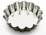 Sci Scandicrafts Fluted Tart - SCI Scandicrafts Fluted Tart/Quiche Mold, Fixed Bottom 2-inch Diameter, Tinplate