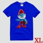 Cute The Smurf Style Cotton Short-Sleeve T-Shirt-Papa Smurf Pattern/Size XL