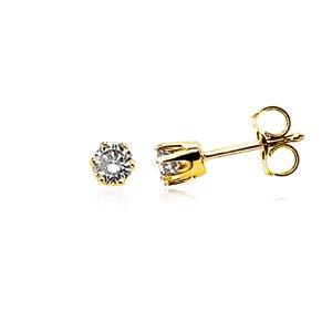 Price comparison product image 1/4 Carat Diamond Stud Earrings - 14 Karat White Gold