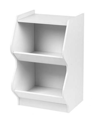 IRIS 2 Tier  Curved Edge Storage Shelf, - Shelving Edge