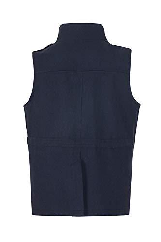 Tasca Le Panciotto Outerwear Piena Zip Blu Maniche Senza Yulinge Con Donne Giubbotto xFRqwfxv