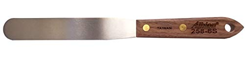 Albion Engineering 258-6S Classic Spatula, Stainless Steel, Hardwood Handle, 1 Wide Tip x 6 Long Blade