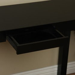 Amazoncom Lachlan Glossy Black Sofa Table Kitchen Dining