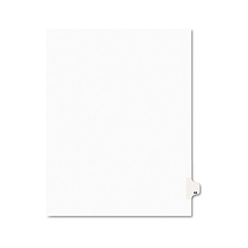 Side Tab Letter - Avery Legal Dividers, Premium Individual Tab Titles, Letter Size, Side Tabs, 48, Pack of 25 (01048)