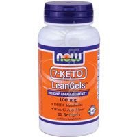 7-KETO LeanGels 100mg 60 Softgels (Pack of 2) by NOW Foods