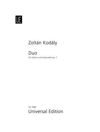Kodály: Duo for Violin and Cello, Op. ()