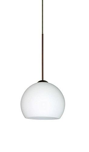 Besa Lighting 1XT-565807-LED-BR 1X6W Led Lightsource Palla 5 Pendant with Opal Matte Glass, Bronze - 5 Palla Mini Pendant