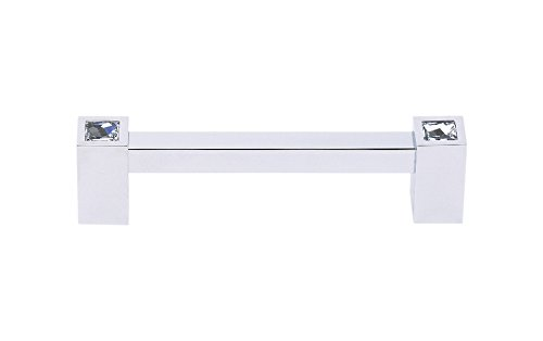 Alno C718-4-PC Contemporary Crystal Modern Pulls, Polished Chrome ()