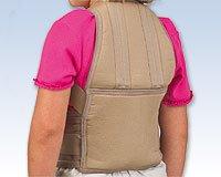 (FLA 16-900600 Posture Control Brace Back Support Beige LATEX FREE LARGE)