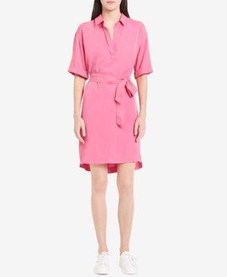 (Calvin Klein Jeans Women's POP Over Tied Dress, Shocking Pink, S)
