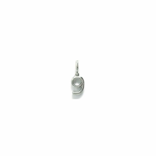 (Shipwreck Beads Pewter Charm, Number 9, Silver, 21mm, 6-Piece)