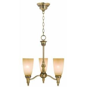 Keswick 3 Light Brushed Brass 20.375