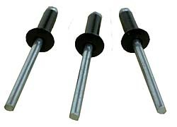 Small Head Black Pop Rivets 50 ct. Bryke Racing 4333093520