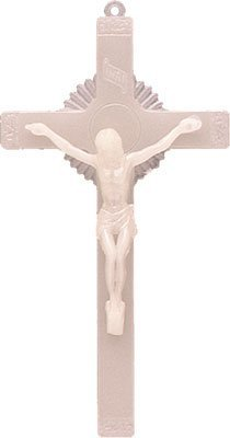 "Rosarybeads4u 12"" Luminous Glow In The Dark Wall Hanging Crucifix Cross"