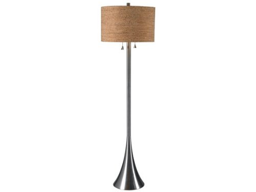 Kenroy Home 32093BS Bulletin Floor Lamp