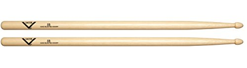 Vater 5B Wood Tip Hickory Drum Sticks, Pair ()