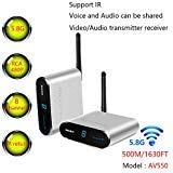 Measy Wireless AV Sender TV Audio Video Transmitter IR Remote and Receiver Support 8 Groups of Channels AV550 5.8GHz…