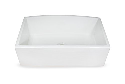 Regallo TRUE FIRECLAY Reversible 30'' Apron Front Sink by MOCCOA, Farmhouse Kitchen Sink White … by MOCCOA (Image #3)