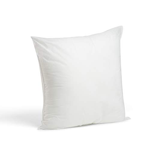 White 18' Neck - Foamily Premium Hypoallergenic Stuffer Pillow Insert Sham Square Form Polyester, 18