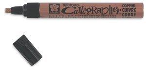 (Sakura - Pentouch Calligrapher Pen - Medium Point - Copper)