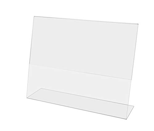 (Marketing Holders Tabletop Sign Holder for Posters Slant Back Design Slide Signage in From the Sides Countertop Lucite Picture Frame fits 11