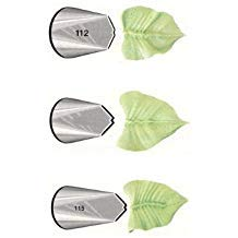 Ateco # 112 - Leaves Pastry Tip - Stainless Steel