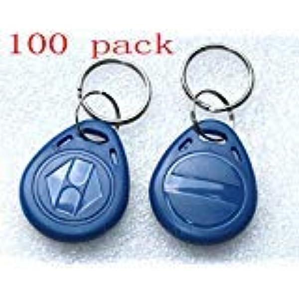 100x RFID Transponder Codeschloss Keyfob EM4100 Schlüsselanhänger Wasserdicht