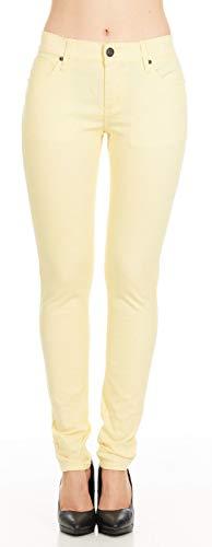 No Fuze Women's Skinny Comfy 5 Pocket Stretch Color Jean Pants (3/4, - Pants Jean Closeout