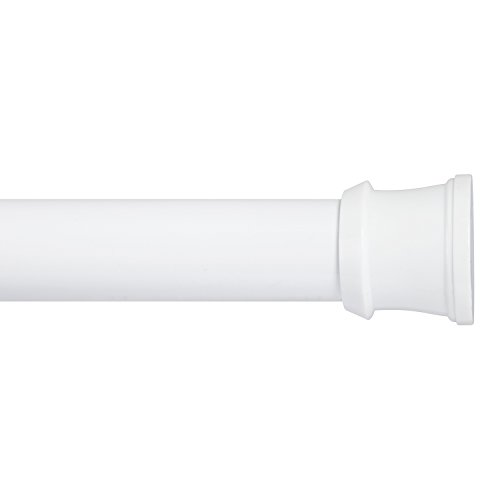 Kenney Twist & Fit No Tools Tension Stall Shower Curtain Rod, 24-40'', White by Kenney