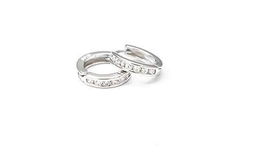 BeeSpring Sparkle Clear Stud Earrings Hoop Jewelry Gift