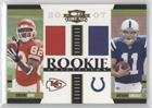 160 Rookie Football Card - Anthony Gonzalez; Dwayne Bowe #160/500 (Football Card) 2007 Donruss Threads - Rookie Collection Combo Materials #RCM-13