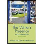 The Writer's Presence: A Pool of Readings 5th Edition (Fifth Ed.) 5e By Donald Mcquade and Robert Atwan 2006