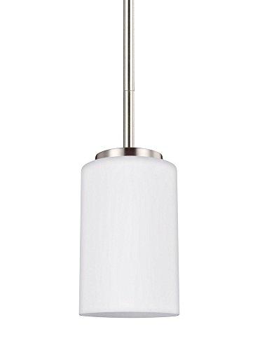 Sea Gull Lighting 61160EN3-962 One Light Mini-Pendant, Brushed ()
