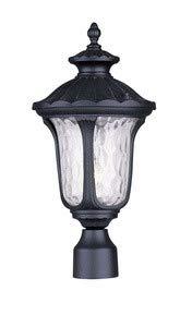 (Livex Lighting 7855-04 Oxford 1 Light Outdoor Post Head, Black)