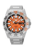 Seiko Series 5 Automatic Orange Dial Stainless Steel Mens Watch SRP483