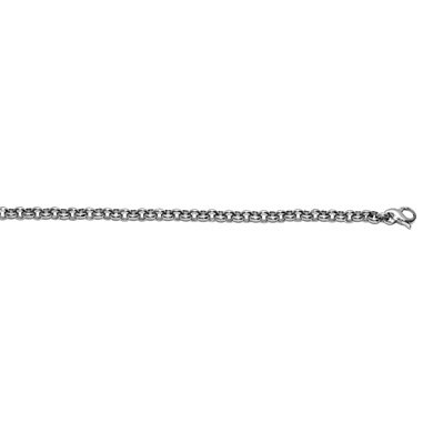 "Or blanc 14 carats 11 mm Noda Bracelet lien - 8 ""- JewelryWeb"