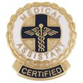 EMI Medical Assistant CERTIFIED Emblem Pin - Round