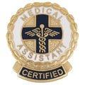 EMI Medical Assistant CERTIFIED Emblem Pin - Round - Pins Emblems